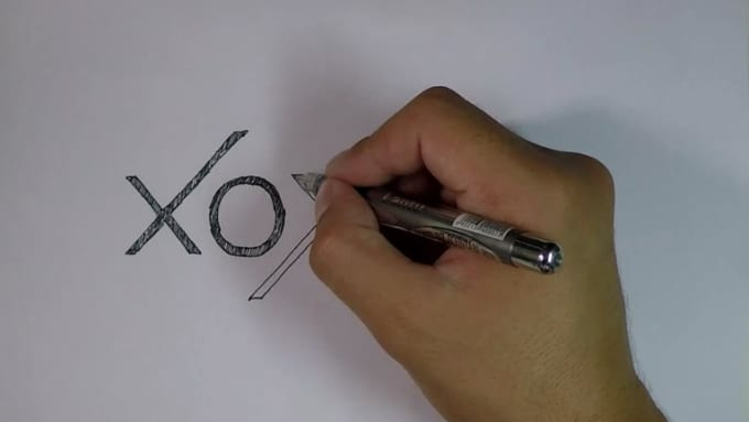 video drawing with black pen 9093421
