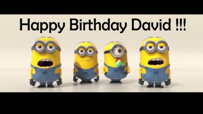Minions Sing Happy Birthday D2