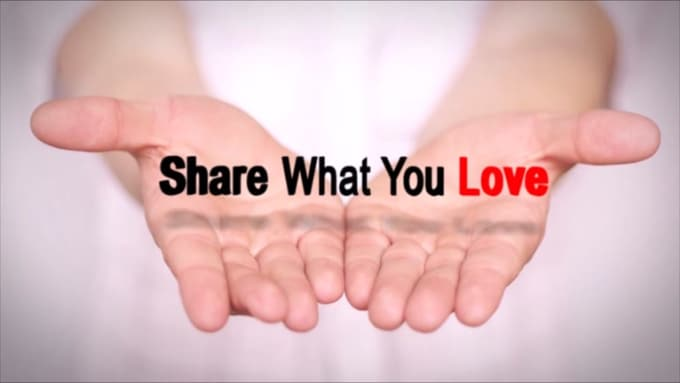 Share what you love hand video
