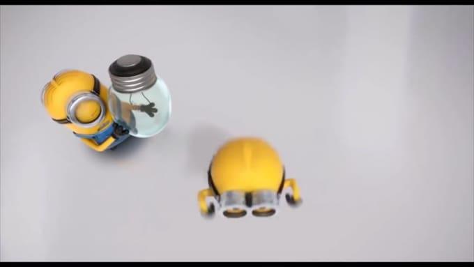 Changing a light bulb Minion IOT AD 720p