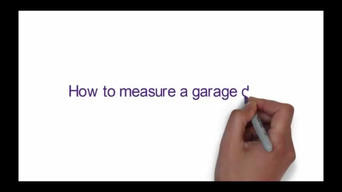 How to measure a garage door