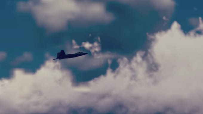 F 22 Realistic flyby anti alising off