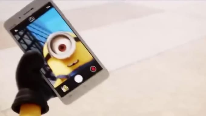 minion selfie with your logo1