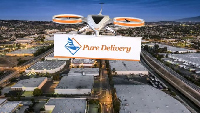 pure Delivery City background