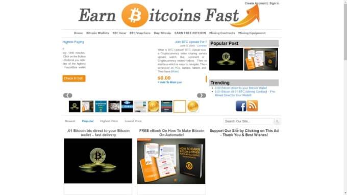 Earn Bitcoins Fast