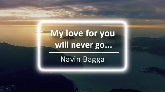 my love for you will never go intro