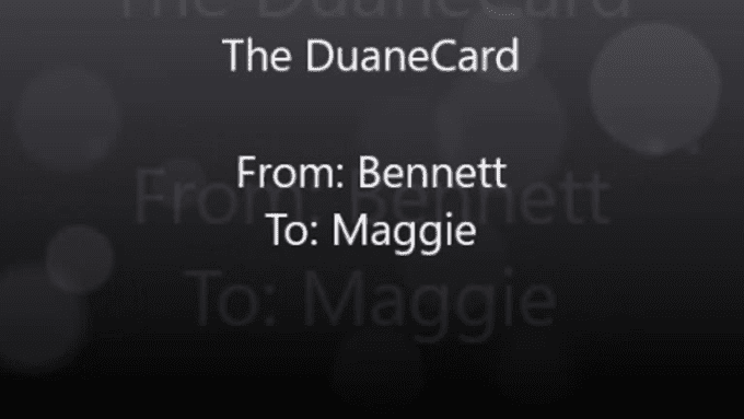 The DuaneCard Bennett Maggie For Email