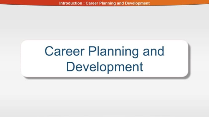 Intro - Career Planning and Development 10+sound