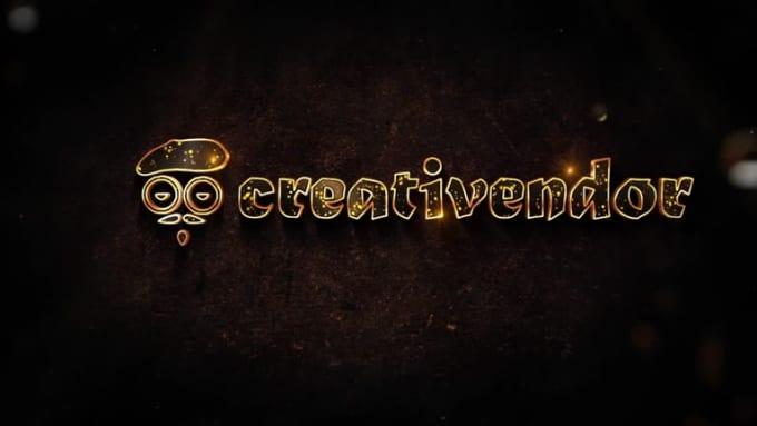 creativendor golden logo - 1080p