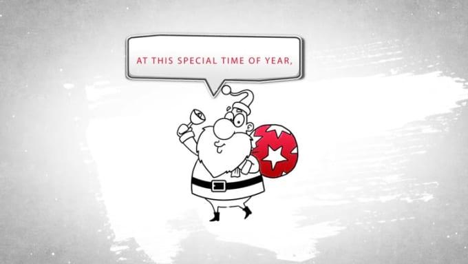 Christmas Whiteboard Greetings 1080p