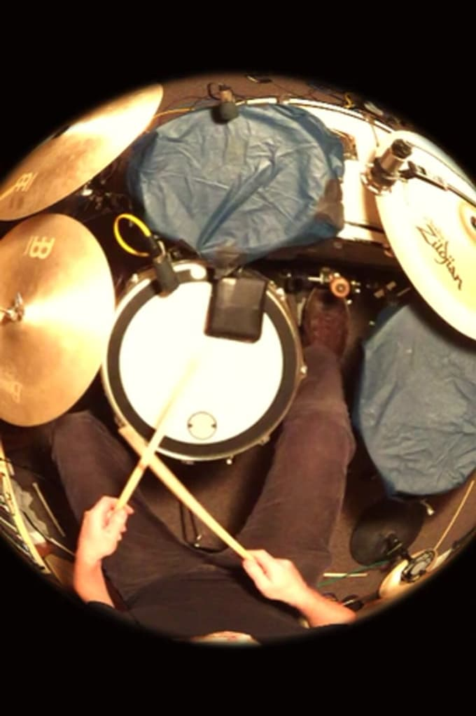 Fish eye FROM ABOVE COME TOGETHER drums
