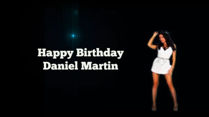 girl dance3 Happy Birthday Daniel Martin 720p