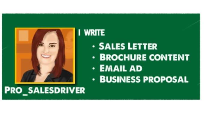 Sales LetterTest