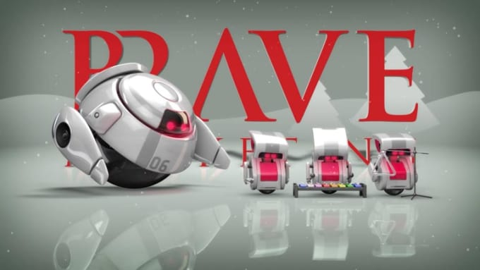 Brave Christmas Robot Full HD
