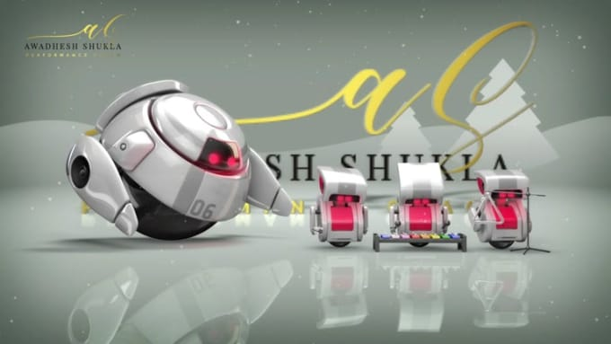 awadheshshukla Christmas Robot Intro Full HD