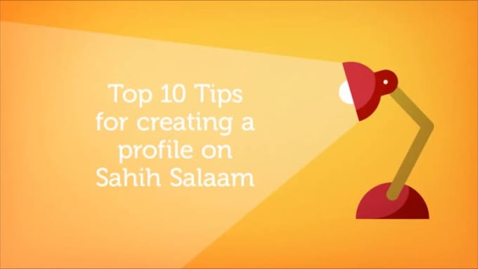 Top 10 Tips for creating a profile on Sahih Salaam no music