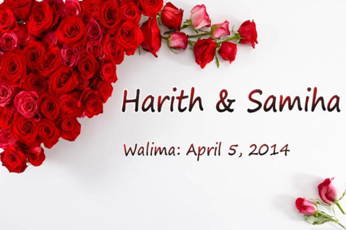 Harith Wedding video Sample2