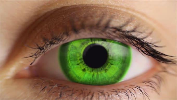 Modified eye video