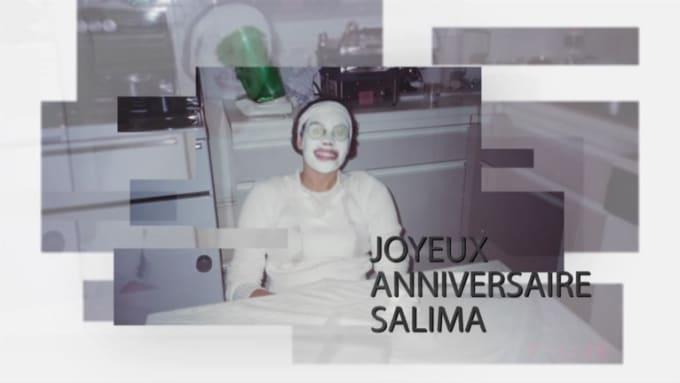 Birthday video slideshow