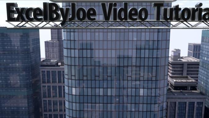 ExcelByJoe Video Tutorials