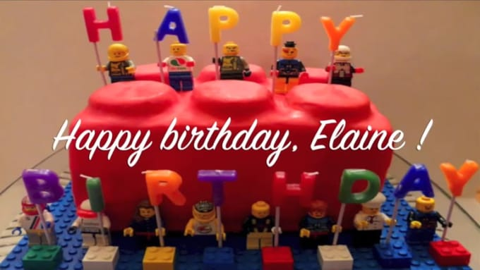 Create A Funny Lego Movie Happy Birthday Video With Your Text By