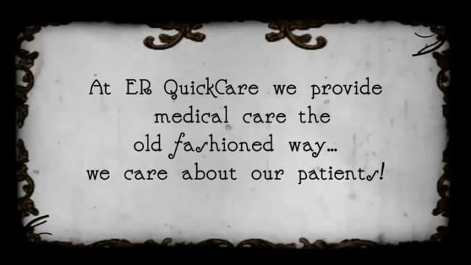 jro666 ER Quick Care silent movie update