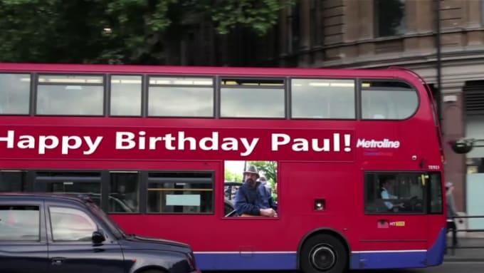 Happy Birthday Paul! with music