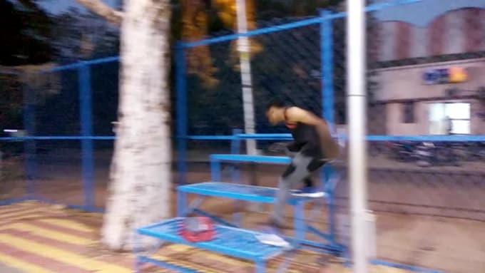 Parkour stunt fail fiverr