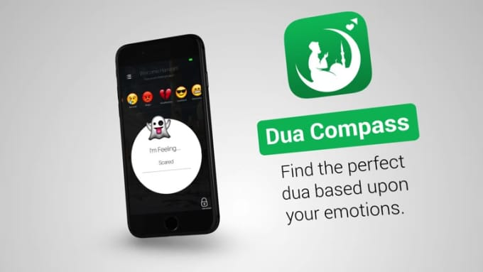 Dua Compass iPhone Mobile App promo video