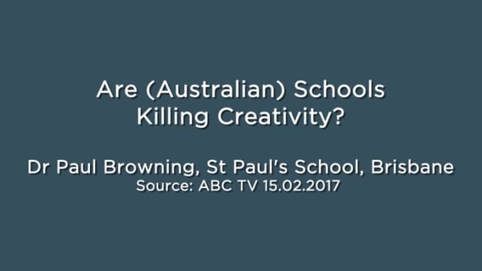 are schools killing creativity
