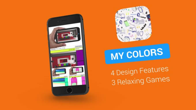 MY COLORS iPhone Stylish Mobile App Promo Video Full HD_1