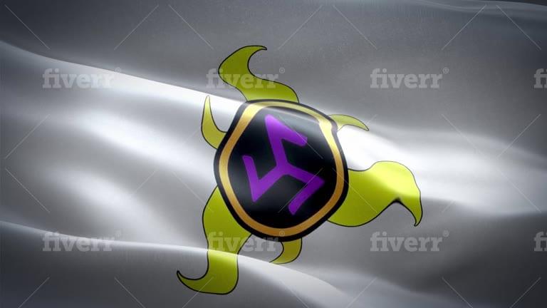 any flag waving animation video loop logo