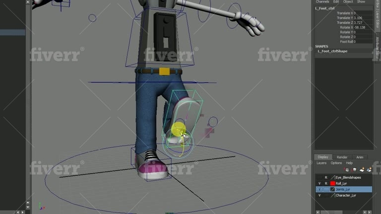 do professional character rigging in autodesk maya