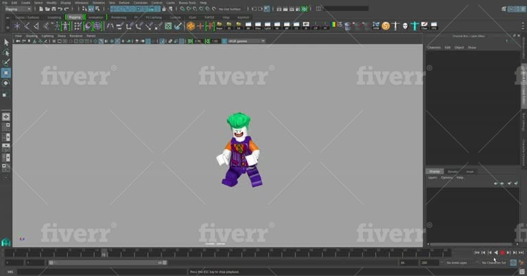 do professional quality character rigging maya and unity
