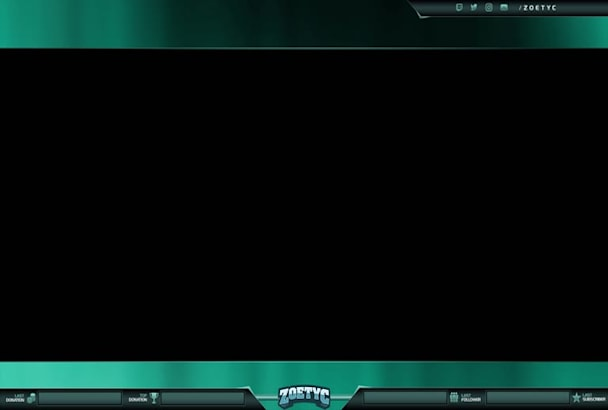 design twitch or mixer overlay and logo for your stream