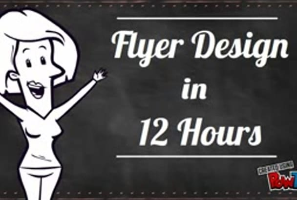 design professional and custom flyer in 12 hours