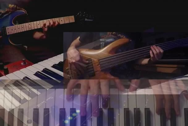 record guitar, bass, synthesizers, piano, or sound effects