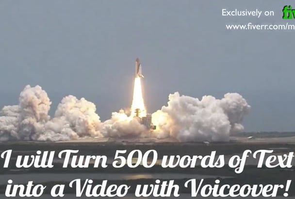 turn 500 words of text into a video with voiceover