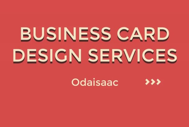 design a professional, stunning  double sided business card