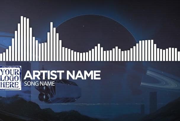 make audio react spectrum music visualizer