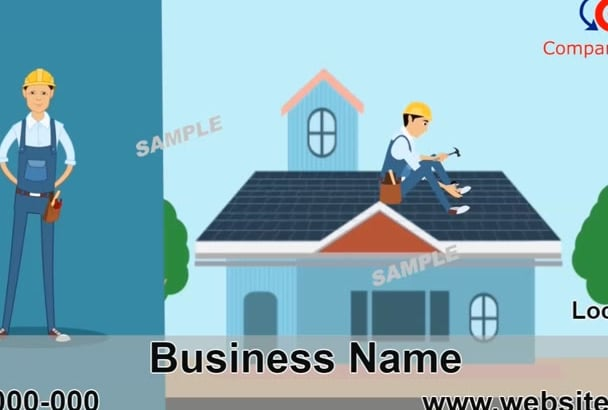 personalize 5 animated roofer videos