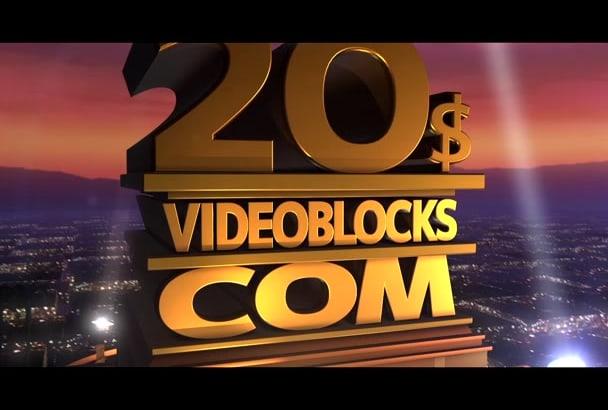 Create 3d Logo Animation 20th Century Fox Intro