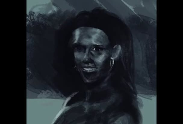 paint your portrait in a realistic style