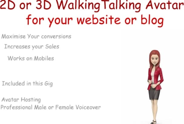 create a 2d or 3d avatar to boost your website sales