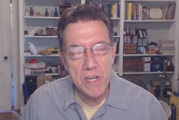 act as a casual presenter at desk, webcam