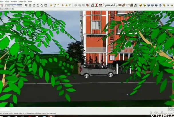 do excellent 2d, 3d interior, exterior, floor plan sketchup