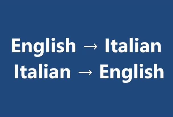 Italian Translation English To Italian: Translate From English To Italian