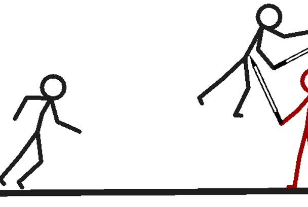 how do you make a stick figure animation