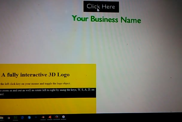 create an interactive 3d logo for your website