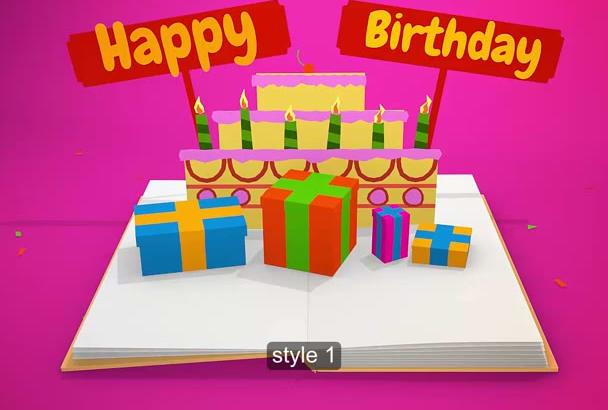 I Will Animated Birthday Wish Video